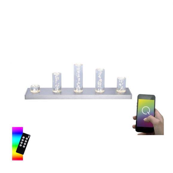 Tischleuchte Q®-SKYLINE, Smart Home, Farbwechsel, ZigBee kompatibel, Dimmbar