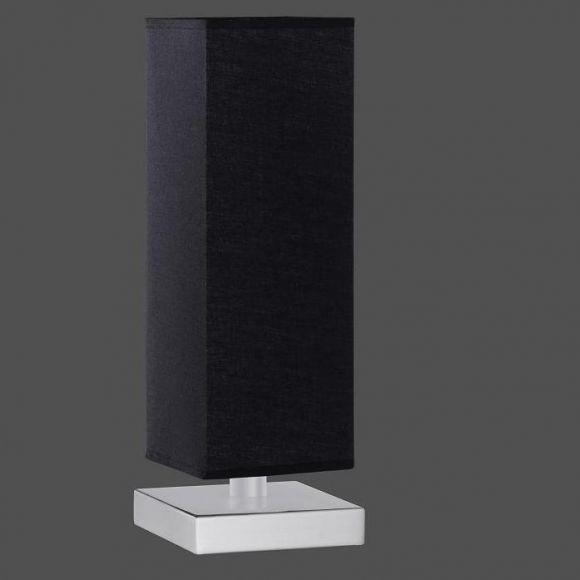 Tischleuchte in schwarz inklusive 28W E14 Halogen Kerzen 3er Pack