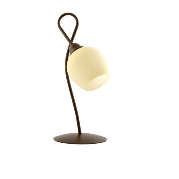 Tischleuchte, Landhausstil, Glas, Fassung E27 für LED Leuchtmittel