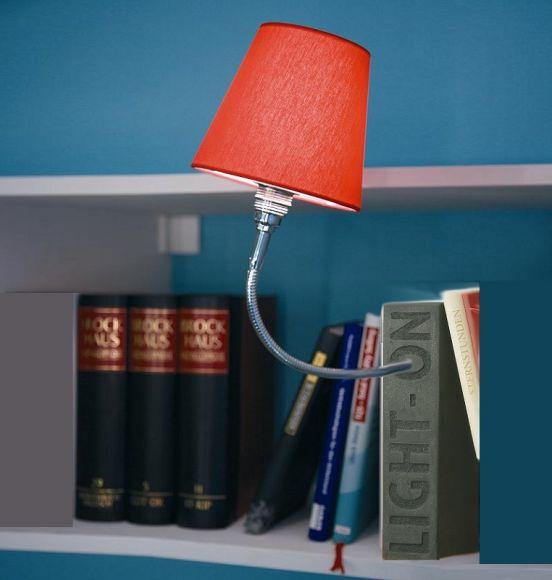 Top Light Buchstütze Light On Granit Optik, Kopf Silk, Flexarm 30cm