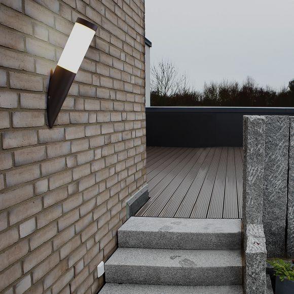 LHG Wandleuchte Außen, Fackellampe, rostbraun, inkl. 4W LED-Leuchtmittel