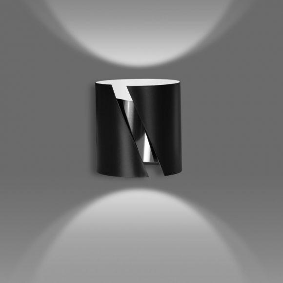 LHG Wandleuchte, Up & Down Light, schwarz, Querschlitz, Zylinder, LED 5 W