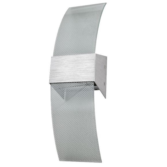 Wandleuchte Janis XL aus Aluminium und Glas mit Lochmuster, inklusive Leuchtmittel
