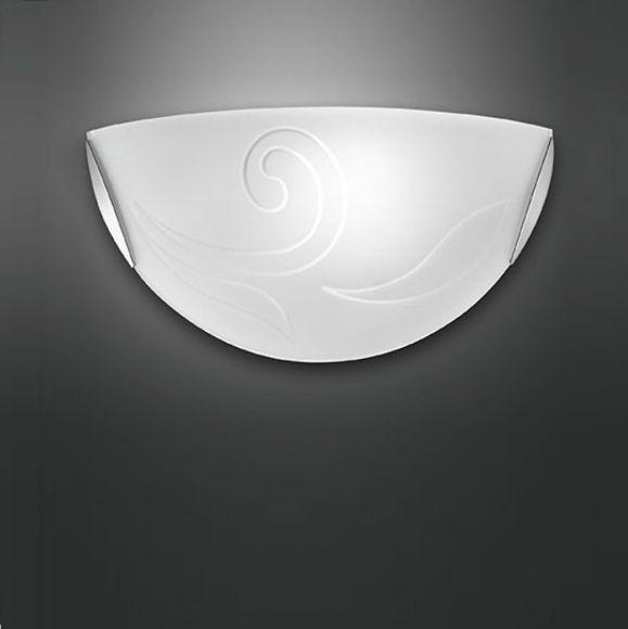 Wandleuchte mit Dekorglas - Design Federica Suman