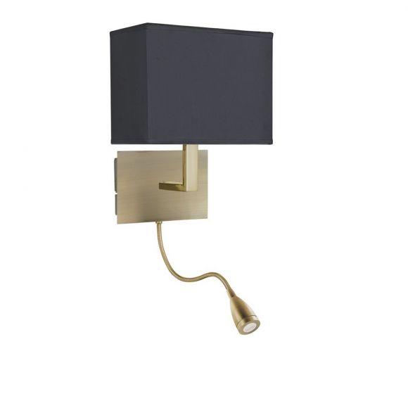 Wandleuchte mit flexiblem LED Leuchtenarm in 2 Farben
