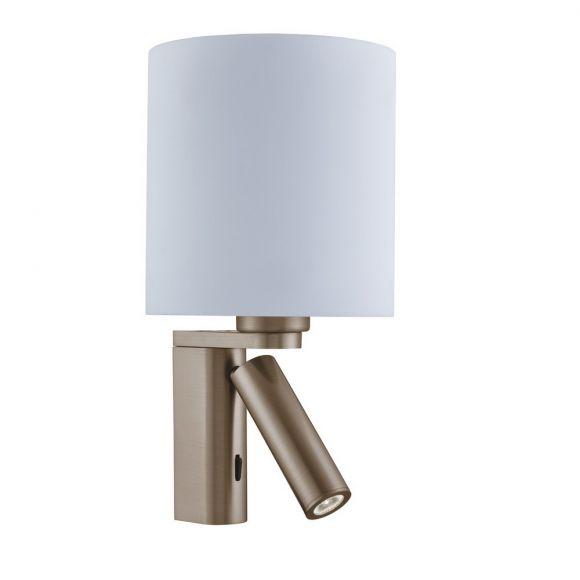 Wandleuchte mit zusätzlichem LED Leuchtenarm in 2 Oberflächen