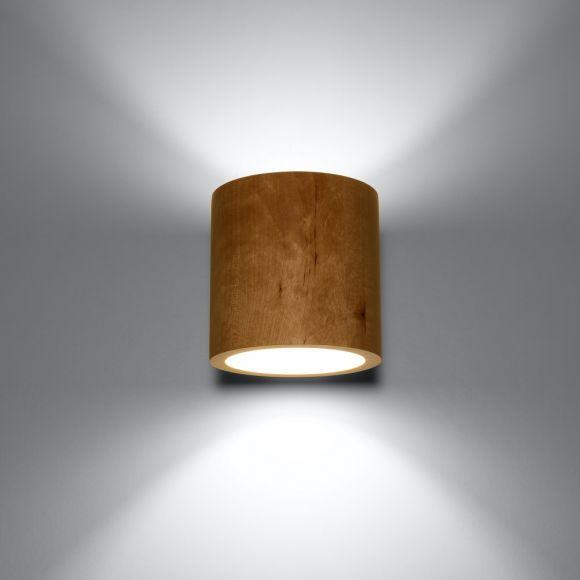 LHG Wandleuchte Orbis Holz mit G9 LED-Leuchtmittel