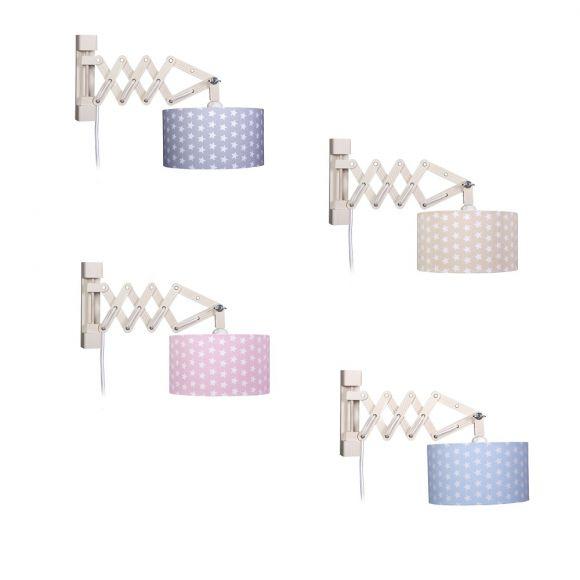 Wandleuchte Sternchen in vier Farben erhältlich