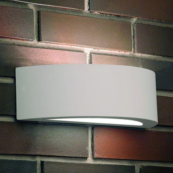 Wandleuchte, Gips, Staubgeschützt, Fassung für LED Leuchtmittel