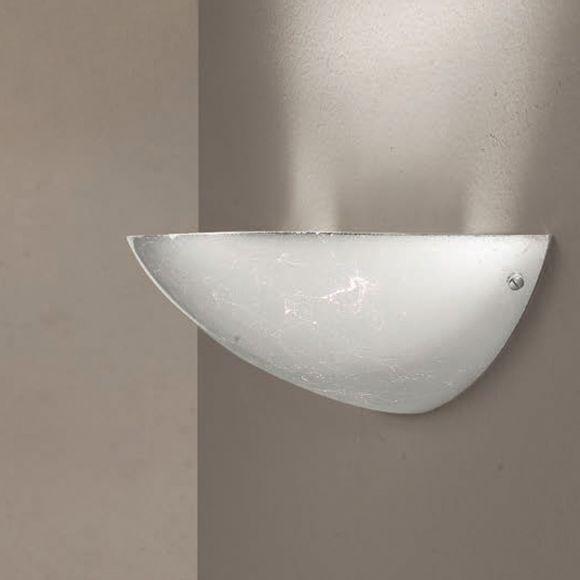 Wandleuchte - Glas mit Silberfolie beschichtet - 3 Größen
