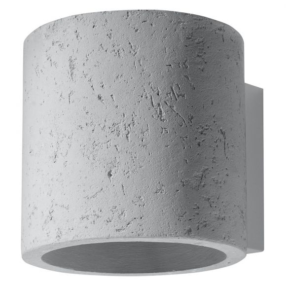 LHG Wandleuchte  Orbis Beton inklusive G9 LED-Leuchtmittel