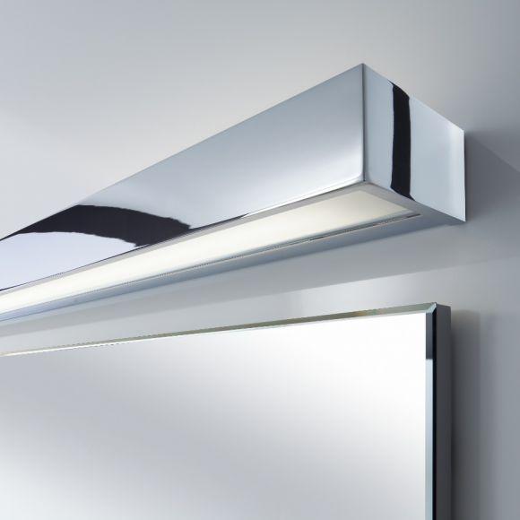wand oder spiegelleuchte 120cm nickelmatt oder chrom wohnlicht. Black Bedroom Furniture Sets. Home Design Ideas