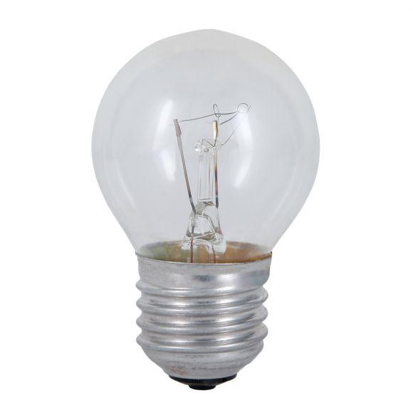25 Watt - 60 Watt , Tropfenlampe Classic E27 klar, D45