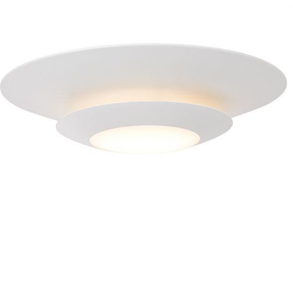 Weiße Deckenleuchte mit LED-Licht, 1 x 22,5Watt - 3000K - 1800Lumen, Kunststoff und Metall