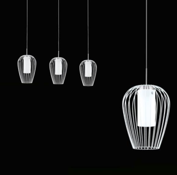 Weiße LED Pendelleuchte Vencino 3-flg.