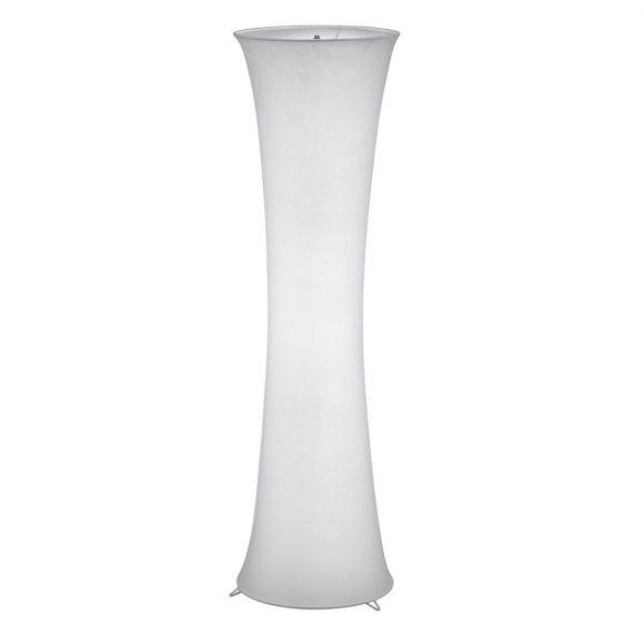 Wohnliche Stehleuchte aus Stoff - Höhe 123 cm - Grau oder Weiß