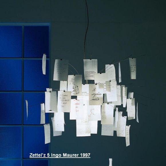 zettel 39 z 5 designleuchte von ingo maurer 1997 wohnlicht. Black Bedroom Furniture Sets. Home Design Ideas