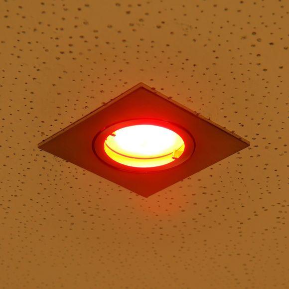 LED Einbauleuchte, Deckenstrahler, Fernbedienung, Farbwechsel, eckig