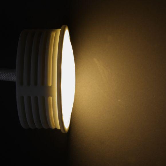 LHG Einbauleuchten 3er Set, rund, Glasring, inkl. LED 5 Watt warmweiß