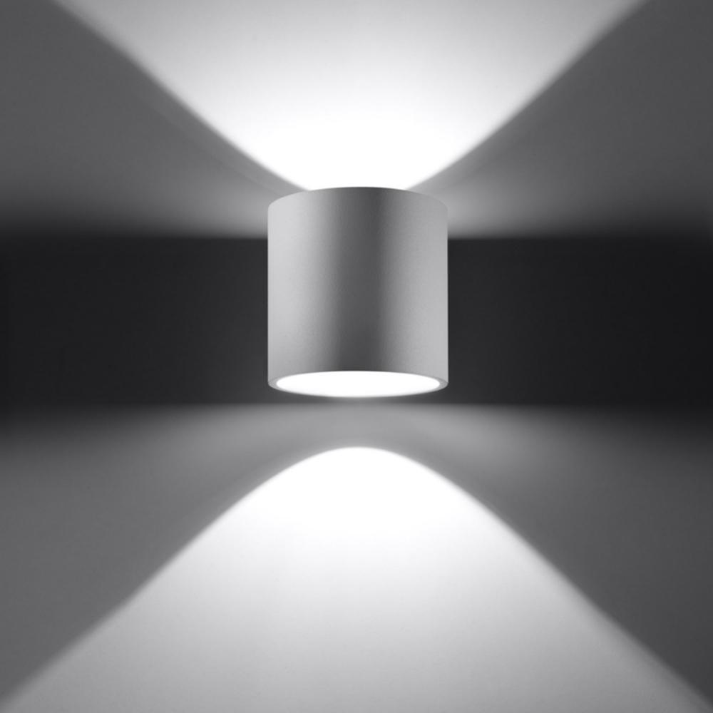LHG Up & Down Wandleuchte Orbis 1 in weiß mit G9 LED 5W