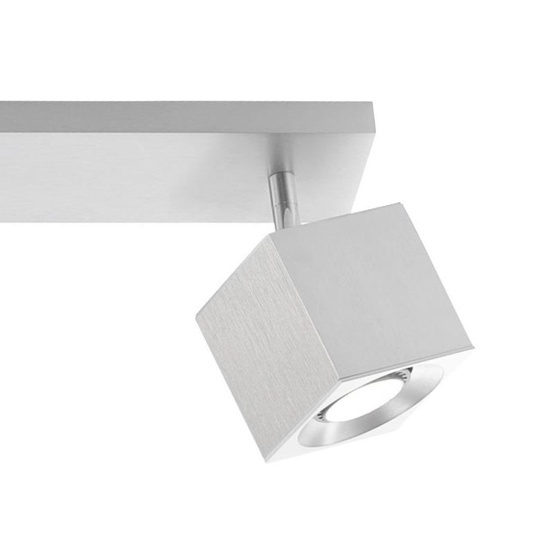 3-flammiger Deckenstrahler CUBE aus Aluminium