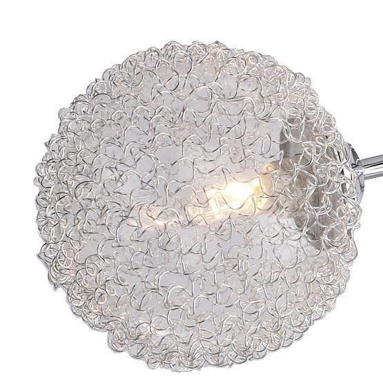 LHG 5-flammige Deckenleuchte modern, Chrom, Drahtgeflecht