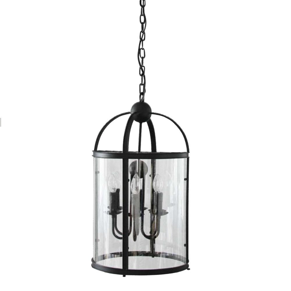 Bellona Landhaus Pendelleuchte Klarglas, Ø 36cm