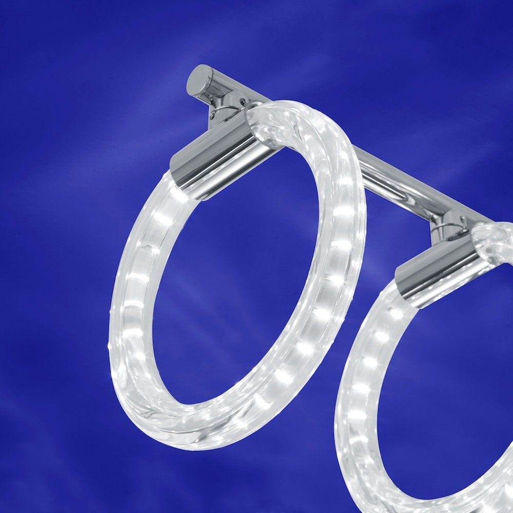 B-Leuchten LED-Deckenleuchte Snow Crystal dimmbar
