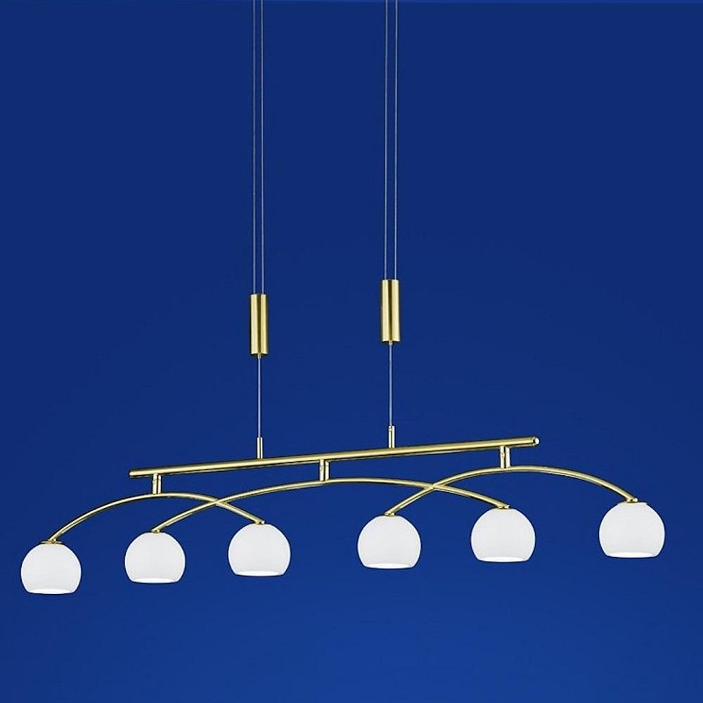 B-Leuchten LED-Pendelleuchte Verona, Messing-matt