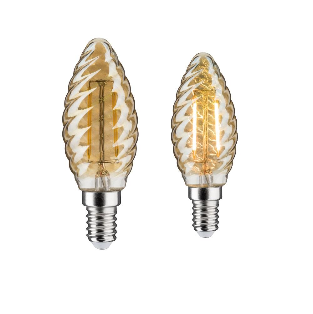 C35 LED Retro Kerze 4,5W Gold gedreht klar E14  2500K 430lm dimmbar