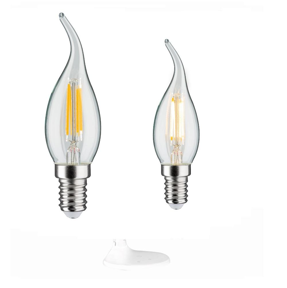 C35 LED Retro Windstoß Kerze 2,8W klar E14  2700K 250lm dimmbar
