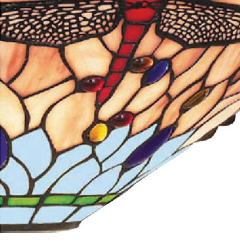 Deckenleuchte Dragonfly im Tiffanystil