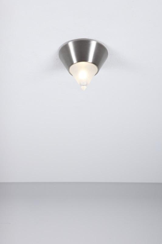 Deckenleuchte Nickel-matt, modern, inkl. Leuchtmittel