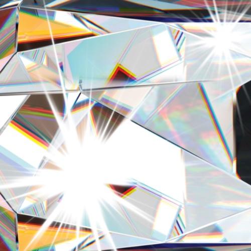 Deckenleuchte verchromt mit Anhänger aus Kristallglas, 58 cm