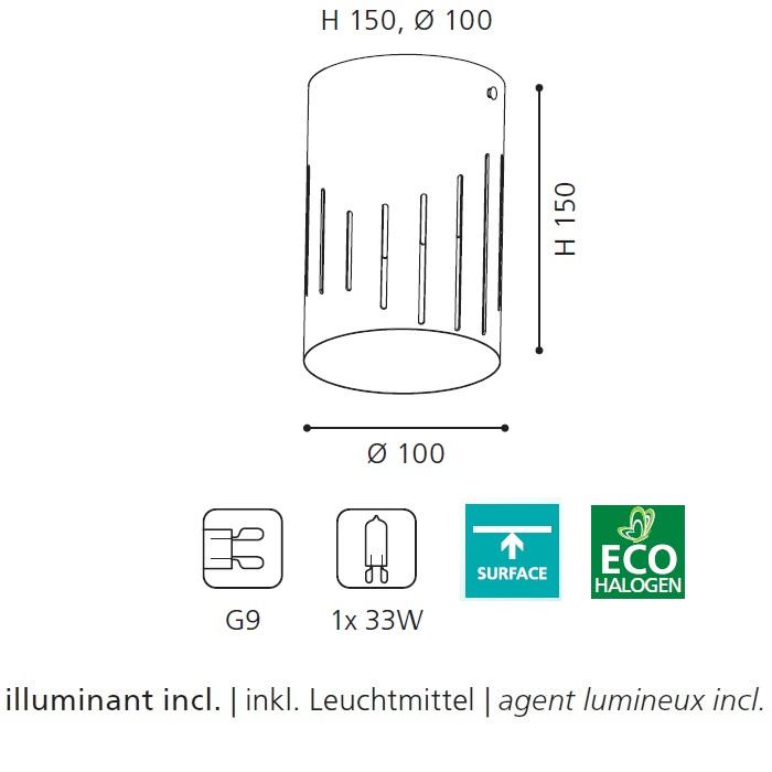 Deckenleuchte, Lichteffekt, inkl. Leuchtmittel, silber