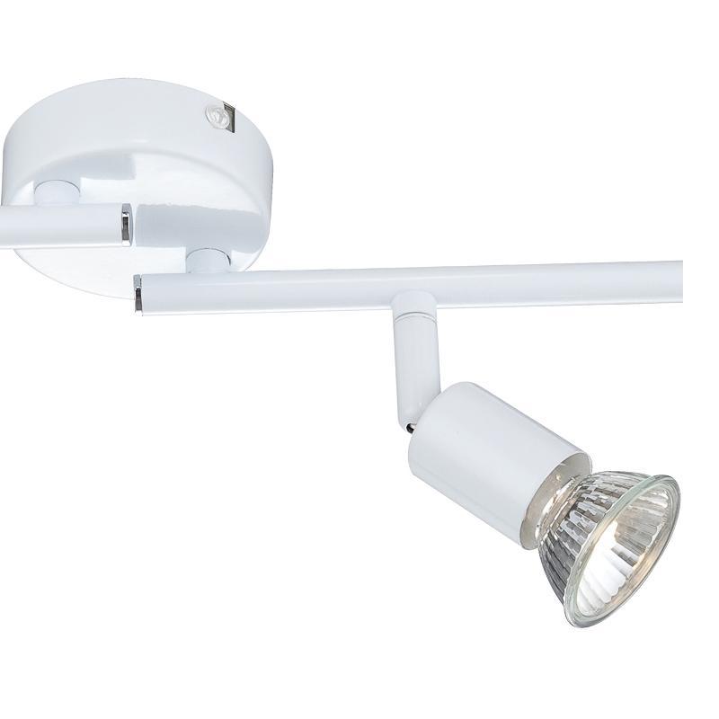 LHG Deckenstrahler im eleganten Weiß, 4-flammig,  inklusive Leuchtmittel und Ersatzleuchtmittel  GU10 50Watt