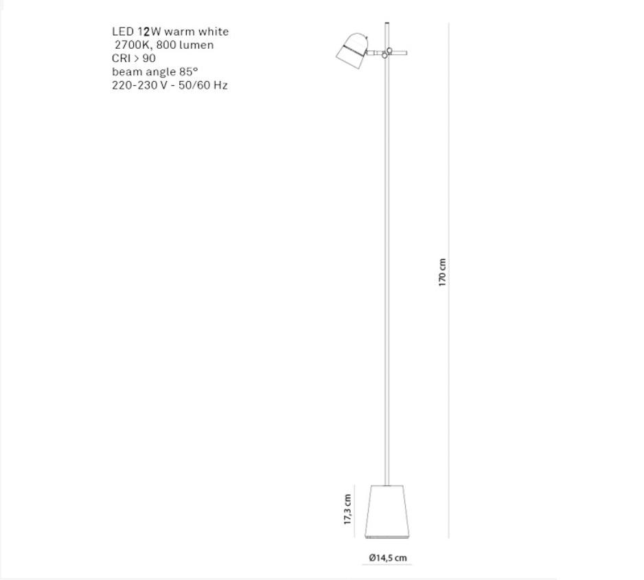 Dimmbare LED Standleuchte Counterbalance , LED 12Watt
