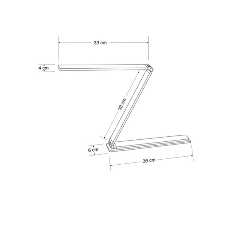 faltbare LED-Arbeitsplatzleuchte mit Doppelarm