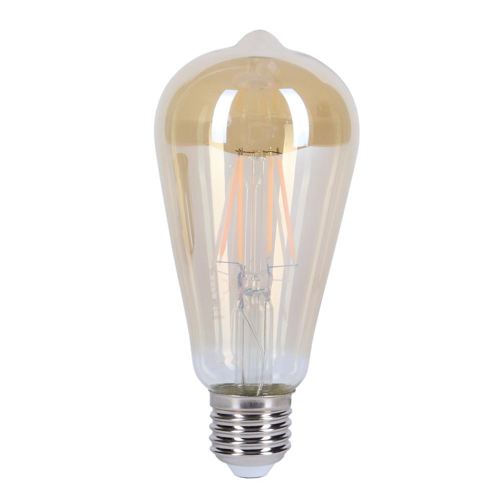 Filament LED E27 amber, 4W, 350Lm, 2200K, 300°
