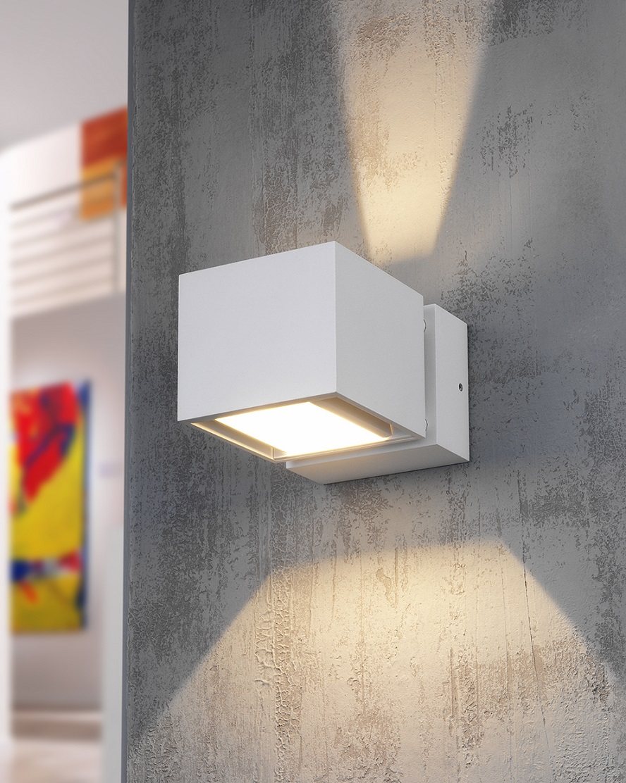 2 flammige LED Wandleuchte Up & Down