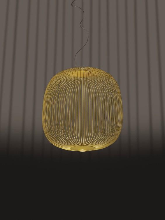 Foscarini LED-Pendelleuchte Spokes 2 - Gelb