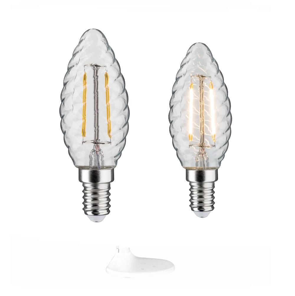Gedrehte C35 LED Retro Kerze 4,5W klar E14  2700K 470lm dimmbar