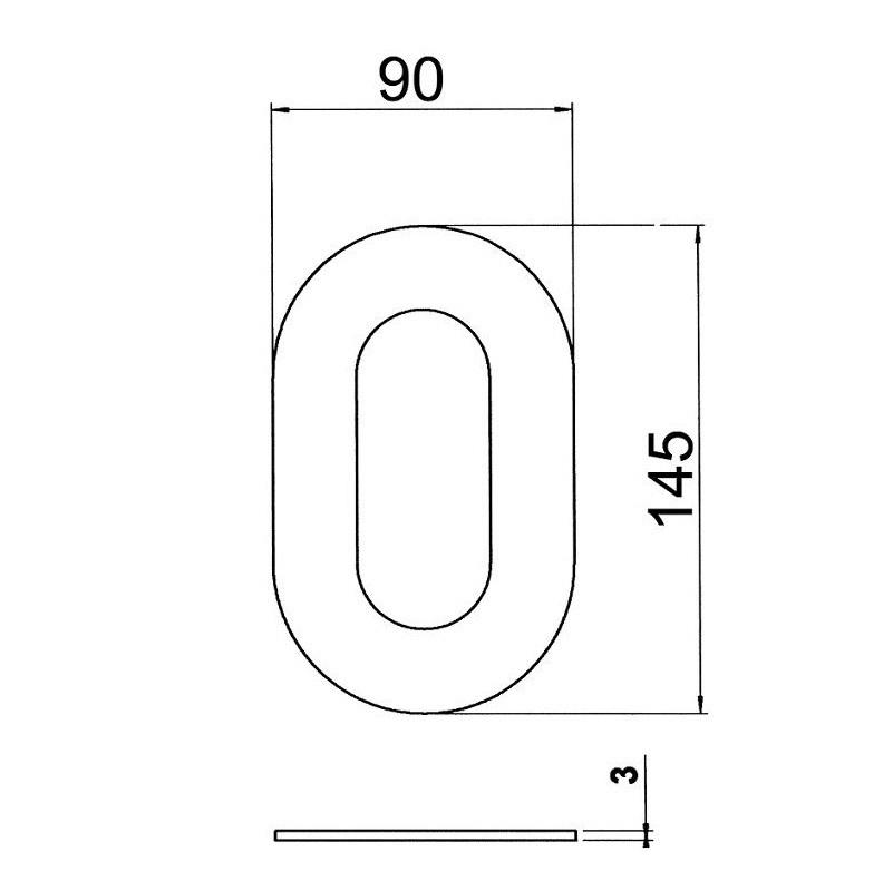 Hausnummern von 0 bis 9 und Buchstaben a, b, c aus Edelstahl   WOHNLICHT