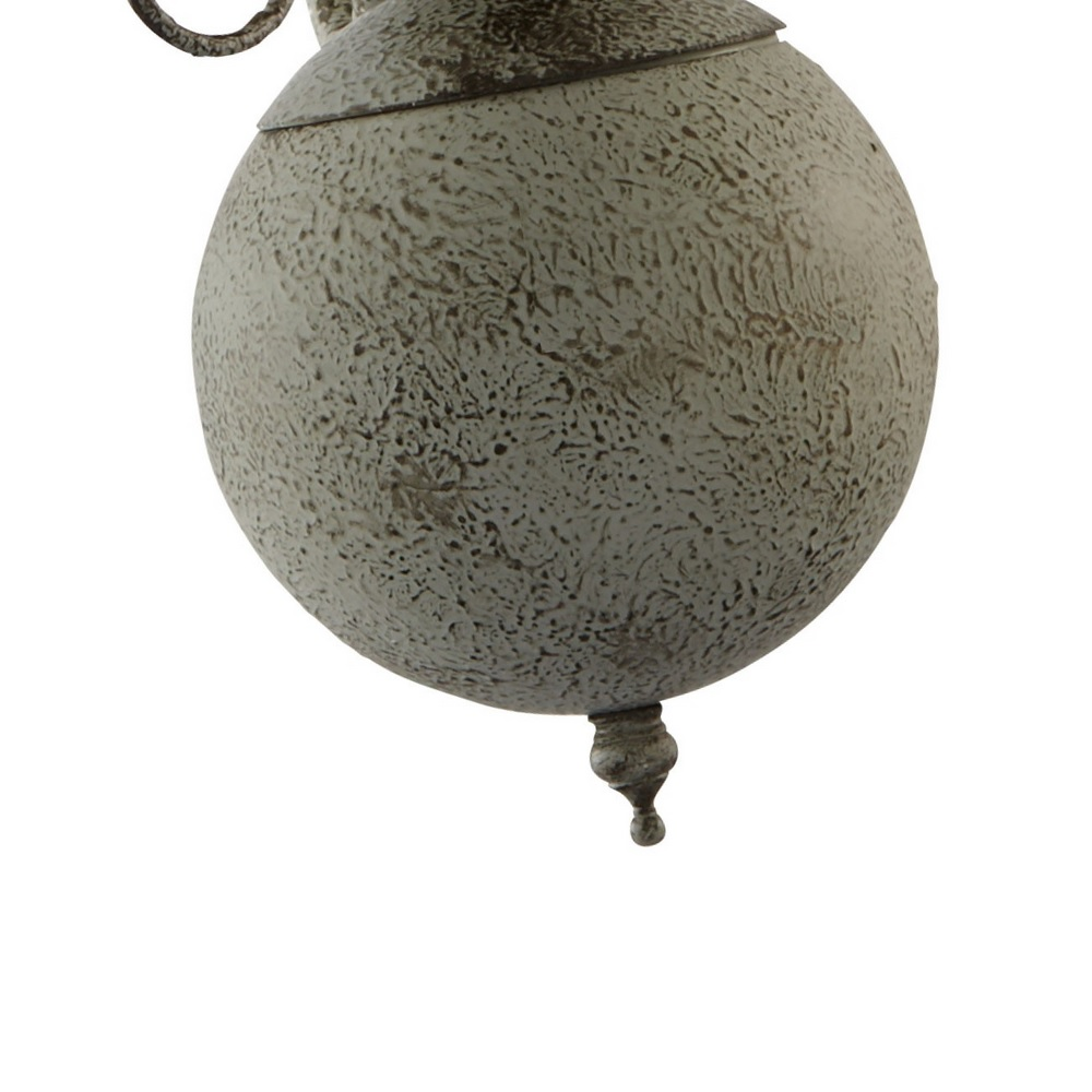 Kronleuchter Greythorne 5-flammig in Grau Antik