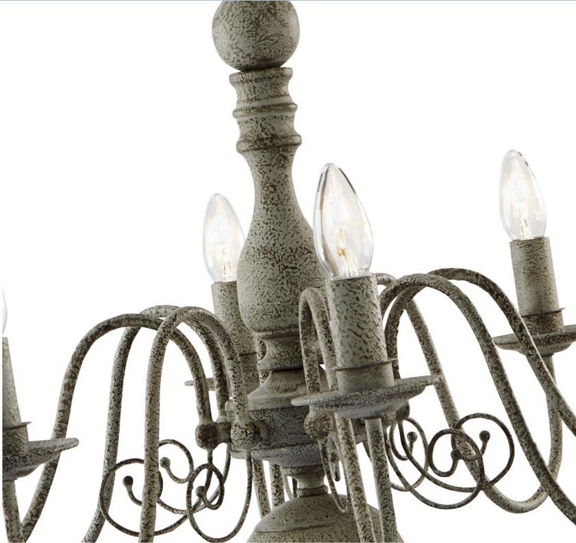Kronleuchter Greythorne 8-flammig in Grau Antik
