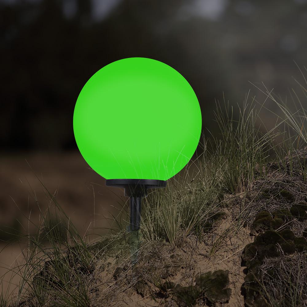 LHG Kugelleuchte, D 40cm, Erdspieß, inkl. Fernbedienung, RGB Farbwechsel