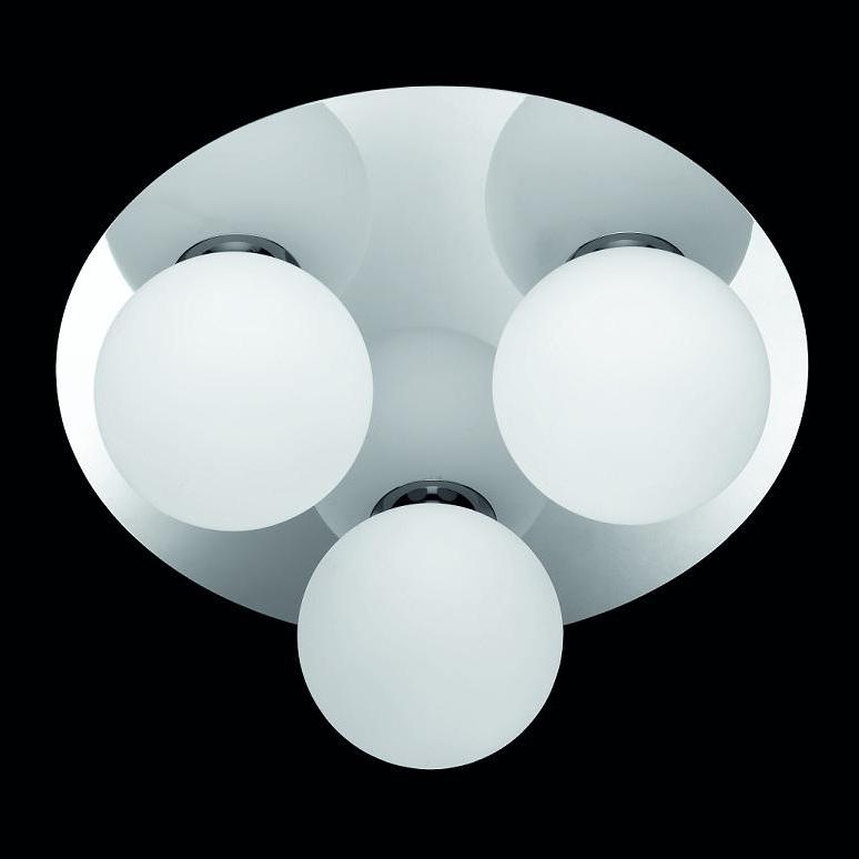 LHG Kugelrund - Badezimmer Halogen Decken Rondell - Chrom + Extra LED-Leuchtmittel G9 2W