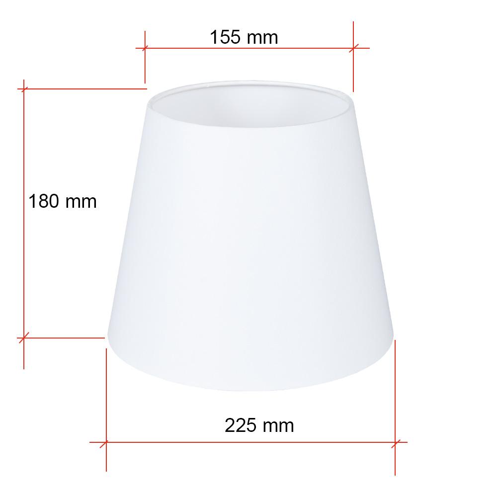 Konischer Lampenschirm E27 Fassung creme oder weiß Ø 22cm