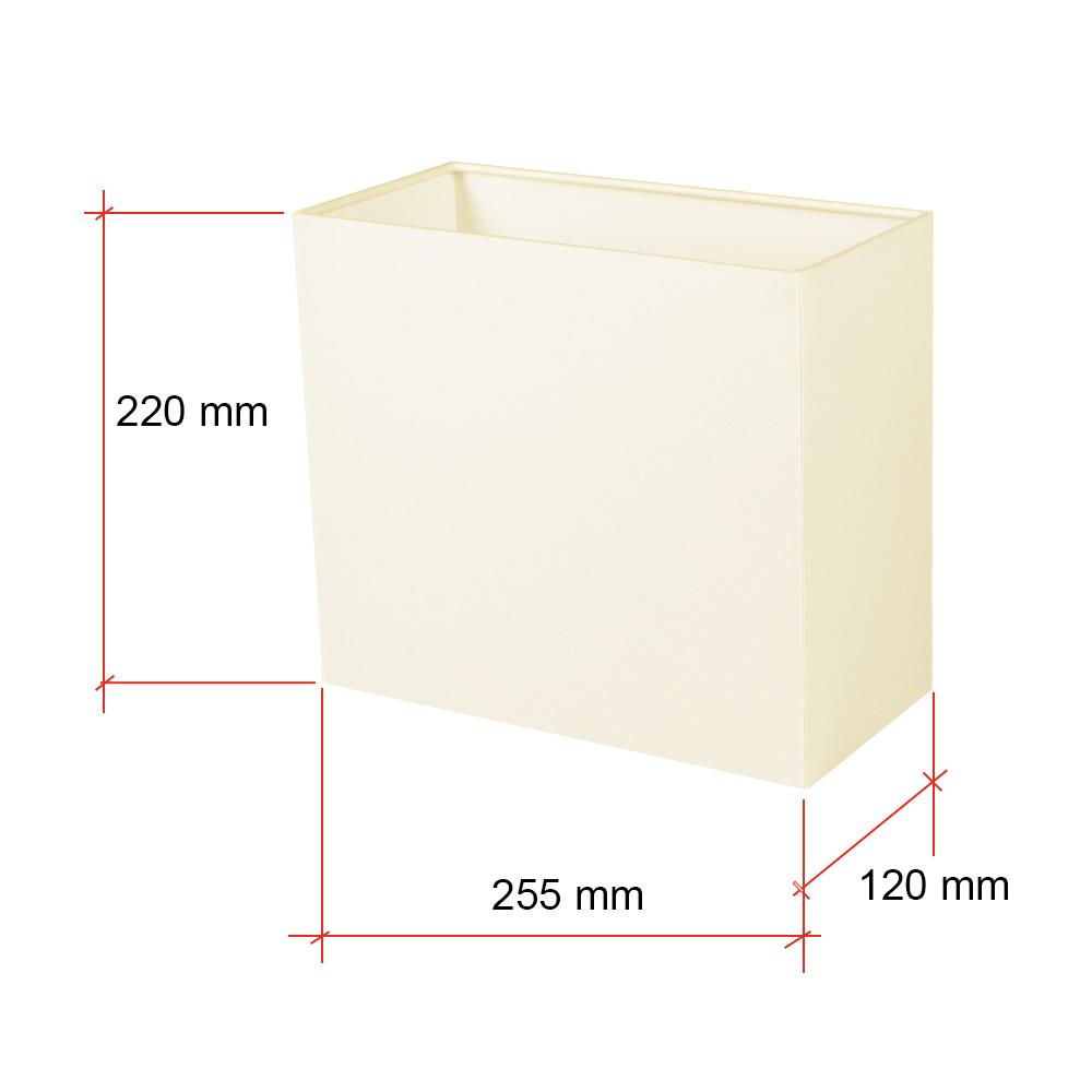 Rechteckiger Lampenschirm E27 Fassung creme oder weiß
