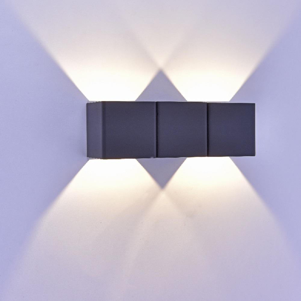 Super LED Außenleuchte, Up & Down, Aluminium, Glas, anthrazit o. weiß DL76